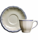 Gien Filet Bleu US Tea Cup & Saucer