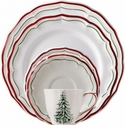 Gien Filet Noel 5 Piece Dinnerware Placesetting