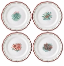Gien Filet Noel Assorted Dessert Plates