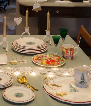& Gien Filet Noel Christmas Dinnerware