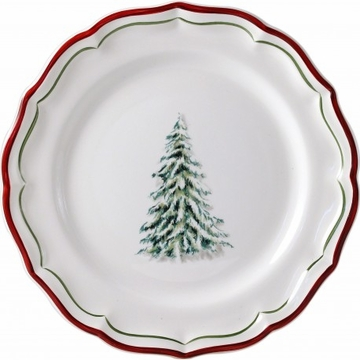 Gien Filet Noel Salad/Dessert Plate