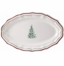 Gien Filet Noel Oval Platter