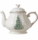 Gien Filet Noel Teapot