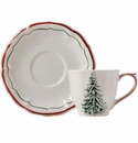 Gien Filet Noel US Tea Cup & Saucer