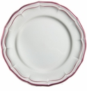 Gien Filet Raspberry Dinner Plate