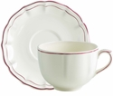 Gien Filet Raspberry Jumbo Cup & Saucer