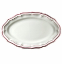 Gien Filet Raspberry Oval Platter