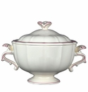 Gien Filet Raspberry Soup Tureen