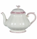 Gien Filet Raspberry Teapot