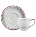 Gien Filet Raspberry US Tea Cup & Saucer
