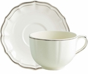 Gien Filet Taupe Jumbo Cup & Saucer