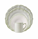 Gien Filet Vert 4 Piece Dinnerware Placesetting