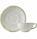 Gien Filet Vert Breakfast Cup & Saucer
