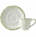 Gien Filet Vert US Tea Cup & Saucer