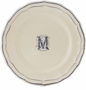 Gien Monogram Filet Bleu Canape Plate