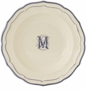 Gien Monogram Filet Bleu Dinner Plate