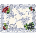 Gien Oiseau Blue Fruits Acrylic Serving Tray Large