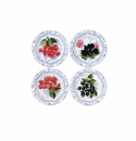 Gien Oiseau Blue Fruits Assorted Dessert Plates