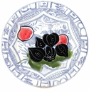 Gien Oiseau Blue Fruits Dessert Plate Fig