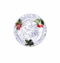 Gien Oiseau Blue Fruits Dinner Plate