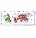 Gien Oiseau Blue Fruits Oblong Serving Tray