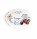 Gien Oiseau Blue Fruits Oval Tray