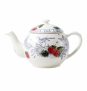 Gien Oiseau Blue Fruits Teapot