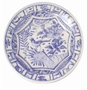 Gien Oiseau Blue & White Dinner Plate