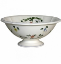 Gien Oiseaux De Paradis Open Vegetable Dish Large