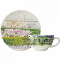 Gien Paris A Giverny Breakfast Cup & Saucer