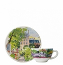 Gien Paris A Giverny Tea Cup & Saucer
