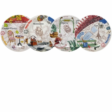 Gien Paris-Paris Assorted Canape Plates