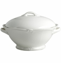 Gien Rocaille White Covered Vegetable Dish