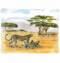 Gien Safari Acrylic Serving Tray Large