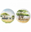 Gien Safari Assorted Canape Plates