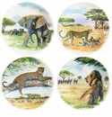 Gien Safari Assorted Dessert Plates