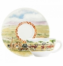 Gien Safari Breakfast Cup & Saucer