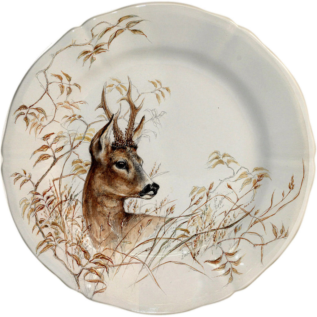 sc 1 st  Distinctive Decor & Gien Sologne Dessert Plate Deer