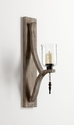 Giorno Wood Wall Candleholder by Cyan Design