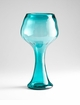 Giovanni Blue Glass Vase by Cyan Design