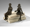 Girl Bronzed Iron Shelf Sitter by Cyan Design (Boy Shelf Sitter is Sold Separately)