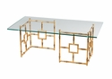 Dessau Home Glass Top Bamboo Float Coffee Table Home Decor
