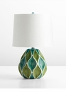 Glenwick Green Ceramic Table Lamp by Cyan Design