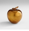 Gold Glass Apple Sculpture by Cyan Design