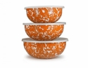 Golden Rabbit Orange Swirl Mixing Bowls