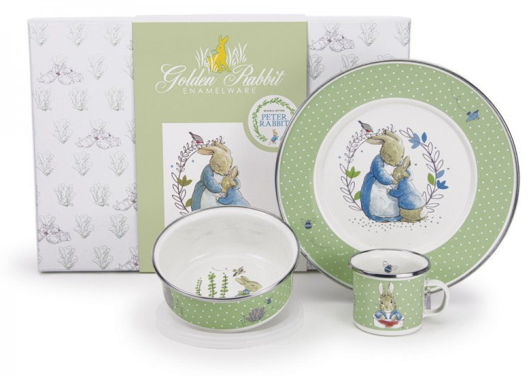 sc 1 st  Distinctive Decor & Golden Rabbit Peter Rabbit Childrens Dinnerware Set