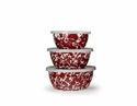 Golden Rabbit Red Swirl Nesting Bowls