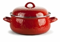 Golden Rabbit Solid Red Dutch Oven