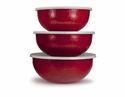 Golden Rabbit Solid Red Mixing Bowls