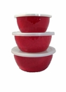Golden Rabbit Solid Red Nesting Bowls